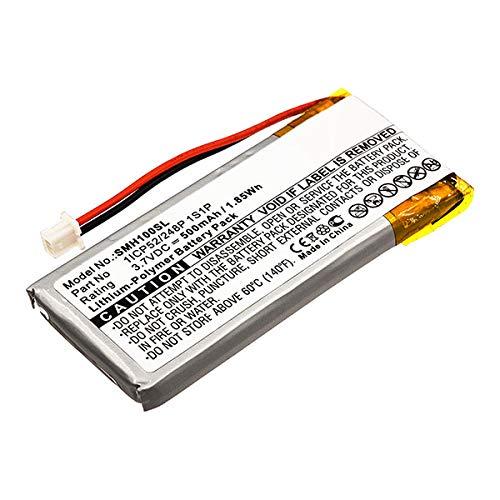 subtel® Batería de Repuesto 1ICP52/248P 1S1P para Sena SMH10, Accu Auriculares inalambricos 500mAh