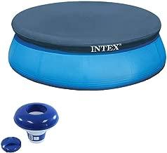 Intex 8 Foot Above Ground Pool Round Cover Tarp & 7
