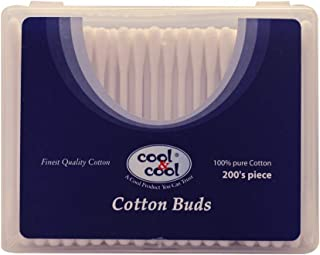 Cool & Cool Cotton Buds, Multi Colors, 200's Box