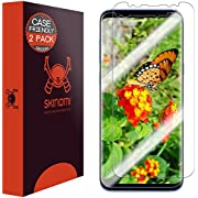 Galaxy S8 Plus Screen Protector[2-Pack][Case Friendly][Updated Design],Skinomi TechSkin Full Coverage[TPU Not Glass] Screen Protector for Samsung Galaxy S8 Plus[HD][Anti-Bubble][Wet Application]