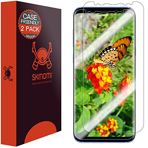 Skinomi TechSkin [2-Pack] (Case Compatible) Clear Screen Protector for Samsung Galaxy S8 Plus...