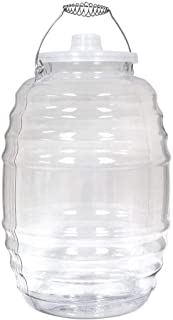 Royal Cook Vitro5C Vitrolero Aguas Frescas Tapadera BPA-FREE Food Grade Plastic Water Container with Lid, 5Gallon/20 Liters, Clear
