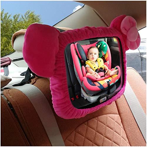 Asiento de seguridad - Espejo retrovisor interior - Espejo retrovisor para niños - Carro invertido para bebés y bebés - Espejo retrovisor (color : Rojo)