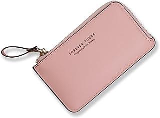 Nico Louise 女の子 ミニ財布 超薄い 小さい財布 レザー レデイース コイン 小銭入れ 人気 ケース キー 小銭 カード ピンク