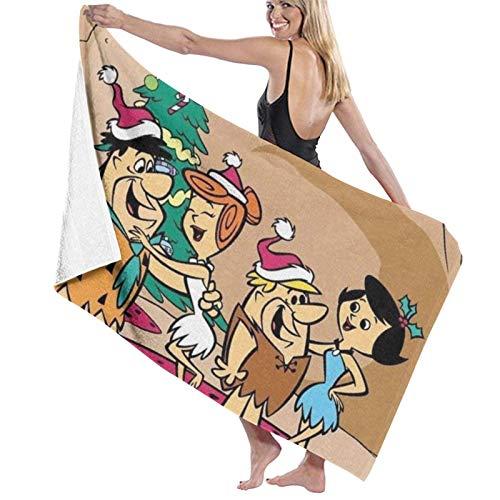 Yaxinduobao Flintstones Toalla de baño Toallas de Piscina de Secado rápido Sillas de Playa Toalla