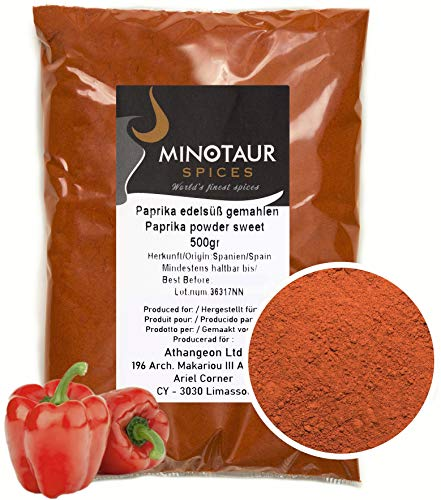 Minotaur Spices | Paprika edelsüß gemahlen, Paprikapulver mild, 2 X 500g (1 Kg)