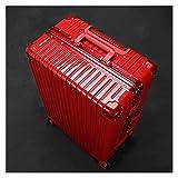 Lleve Maleta, Caja de aleación de Aluminio con Ruedas universales 20/24/26/28 Pulgadas Maleta de Estudiante Caja de contraseña, Ocho Colores para Elegir (Color : Dark Red, tamaño : 26 Inches)