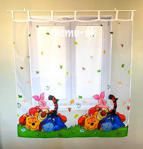 Polontex Disney Gardine mit Schlaufen Winnie Puuh - Winnie The Pooh DA04-75 cm Breite x 160 cm Lange Kinderzimmer