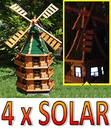 Molino de viento gigante, diseño de molino de viento para jardín, con luz solar WMB160gr-MS iluminación, para exteriores 1,60 m grande y gris: Amazon.es: Juguetes y juegos