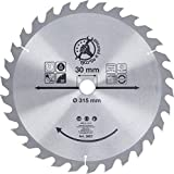 BGS Diy 3957 | Hartmetall-Kreissägeblatt | Ø 315 x 30 x 3,0 mm | 30 Zähne