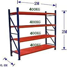 storage rack stand garage storage shelves grey shelving 2mX2mX0.6m 300kg red-blue shelving (2mX2mX0.6m)