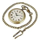 IHCIAIX Taschenuhr, robustes Gehäuse aus Legierung, Quarzuhr, normales Gehäuse, Zifferblatt mit Ziffern, Taschenuhren, Kettenanhänger, Uhr für Herren und Damen, 30 cm lange Kette