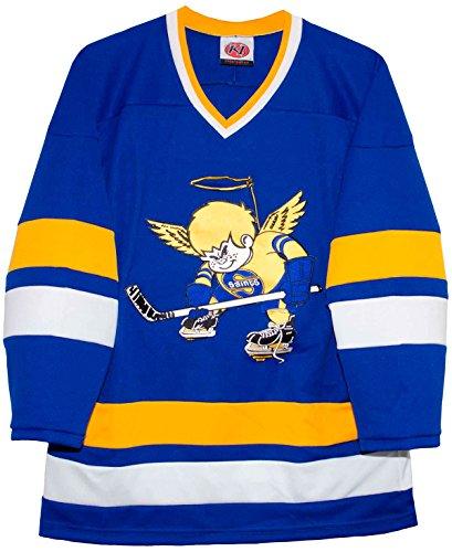 Minnesota Lucha Saints Blue Away clásico WHA Hockey Jersey
