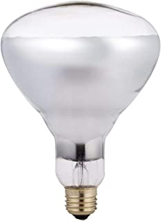 Phillips 416743 Heat Lamp 250-Watt BR40 Clear Flood Light Bulb (Renewed)