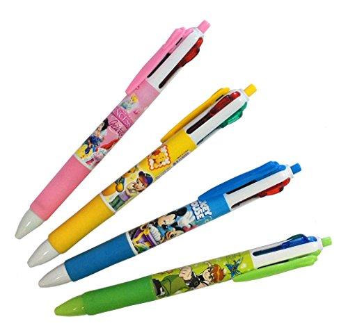 Multicolor Pen no 885 enfants à bille rétractable 4 Couleur Pen couleurs assorties - Lot de 4