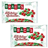 Brachs Holiday Spicettes, Red and Green Christmas Gumdrops - Cinnamon and Wintergreen Jelly Drops