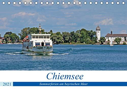 Chiemsee - Sommerferien am bayrischen Meer (Tischkalender 2021 DIN A5 quer)