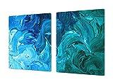 Cubre vitro de Cristal Templado de Gran Tamaño – Protector de encimera apaisado – UNA Pieza (80...