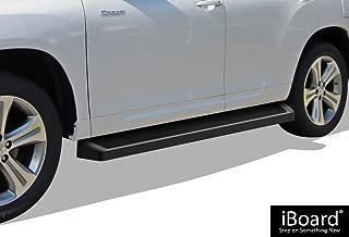 APS iBoard Black Running Boards Style Custom Fit 2008-2013 Toyota Highlander Sport Utility 4-Door (Nerf Bars Side Steps Side Bars)