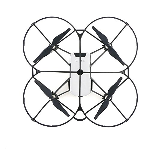 Voller Schutzflug PropellerSchutz ,routinfly für DJI Tello Drohnen zubehör (Schwarz, 1pcs)
