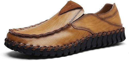 schuheDQ Herren Freizeitschuhe Handgefertigte Schuhe Mokassins Flats Driving Schuhe