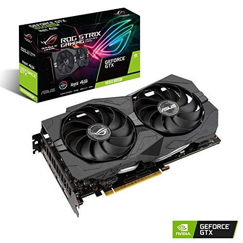 ASUS ROG Strix GeForce GTX 1650 Super Advanced Edition 4GB GDDR6 - Tarjeta gráfica (hasta 1770 MHz, Ventiladores Axial-Tech, tecnología 0 db, DirectCU II, Auto-Extreme, FanConnect II)