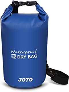 Dry Bag Sack Backpack 20L - JOTO Waterproof Dry Bag for Outdoor Activities - Perfect for Boating,  Kayaking,  Fishing,  Rafting,  Hiking,  Swimming,  Floating,  Camping [ 20L Floating Dry Bag ] (Navy Blue)