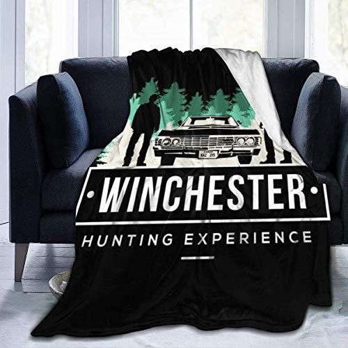 Manta de Franela Tela de Cepillo Extra Suave Súper cálida Mantas para sofás acogedora y Ligera Experiencia de Caza en Winchester