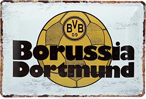 Borussia Dortmund BVB Blechschild Retro 30x20cm