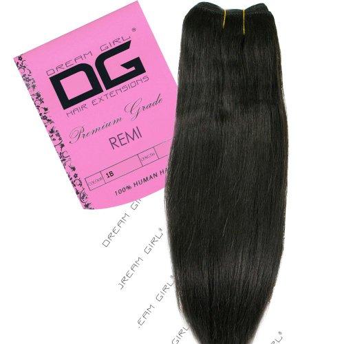Dream Girl Remi Extensions de cheveux adhésives Couleur 1B 35,6 cm