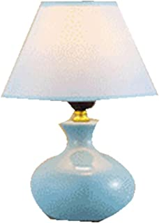 LQQGXL Lámpara de mesa pequeña de la luz cálida moderna simple de cerámica americana creativa de la moda Tipo de interrupt...