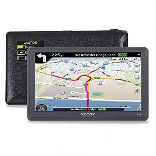 Xgody 715 Truck GPS Navigation for Car Portable 7Inch Capacitive Touchscreen 8GB ROM SAT NAV...