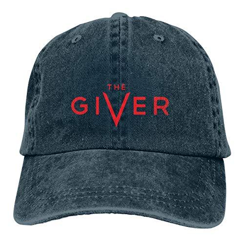 SEN-COTORS Giv'er Plain Cowboy Cotton Hat for Unisex Curved Eaves Navy