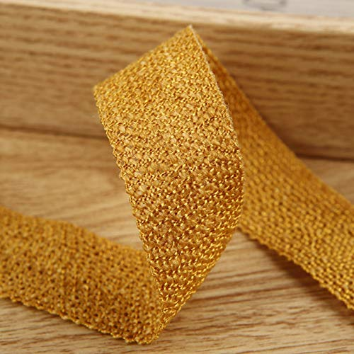Knitting Ribbon Cotton Linen Texture Crafts Material DIY Bows Christmas Garland Gift Wrapping Lace Decorating 50 / 100Yards