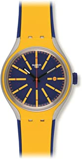 Swatch Women's YES4009 Stretch Year-Round Analog Quartz Yellow Watch