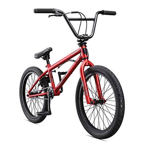 Mongoose Legion L10 Freestyle BMX Bike Line for Beginner-Level to Advanced Riders, Steel Frame, 20-Inch Wheels, Red