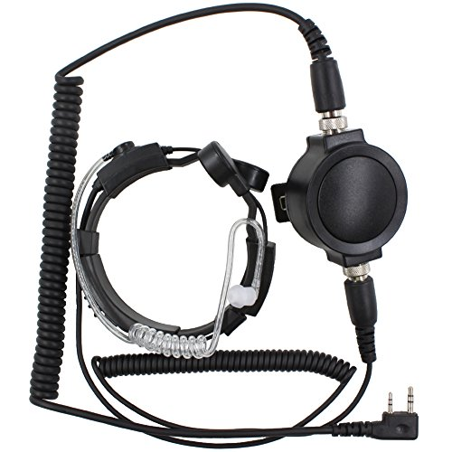 Cheap KENMAX Military Tactical IP54 Waterproof Big PTT Telescopic Throat Mic Earpiece Headset for Wa...