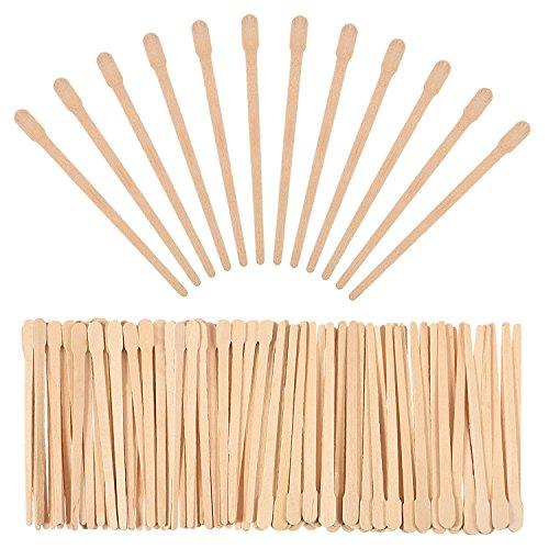 500 Packung Wachs Spatel Holz Handwerk Sticks Kleine für Haarentfernung Augenbrauen Wachs Applikator Sticks