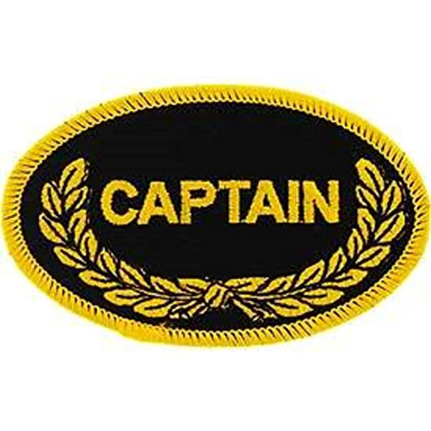 EagleEmblems PM0200 Patch-Oval,Captain (3.5'')