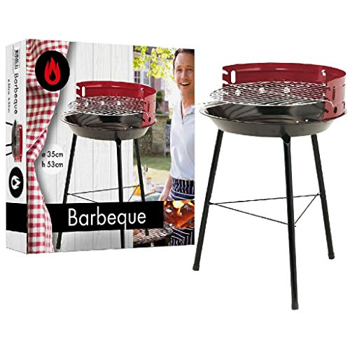 AK Sport 1370008 Barbecue Red Metal Treppiede 7,6 x 35,5 x 37 cm