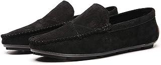 Mocasines Cómodos de Conducción Gamuza para Hombre Plano Informal Caminar Brogue Clásico Negocios Zapatos Barco Vestir