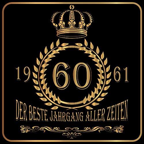 60 Der beste Jahrgang aller Zeiten 1961: Cooles Geschenk zum Geburtstag Geburtstagsparty Gästebuch...