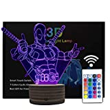 Marvel Anti-hero Deadpool Mood Light Handmade 3D BULBING Optical Illusion LED Lamp