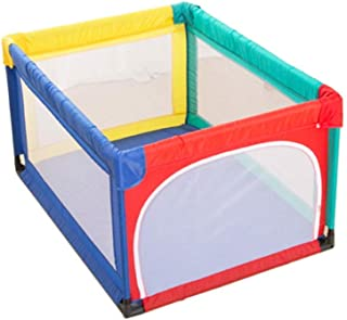 LNDDP Playpens Play Yard Small Safety  Indoor Outdoor Playyard for Toddler Boy Girl  Safety Activity Centre Protective Fence  95 120 70cm