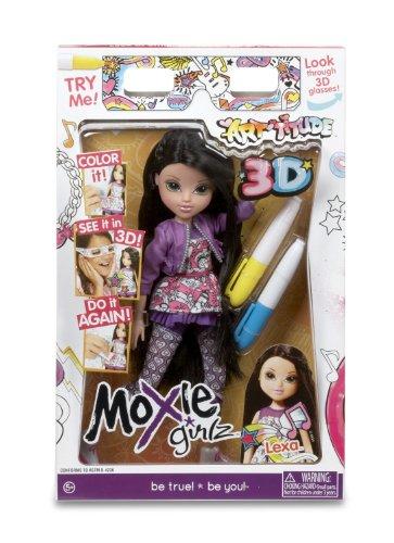Moxie Girlz – Art-titude 3D – Lexa – Poupée 20 cm avec Lunettes 3D