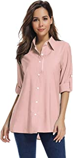 Jessie Kidden Women's Quick Dry Sun UV Protection Convertible Long Sleeve Shirts for Hiking Camping Fishing Sailing
