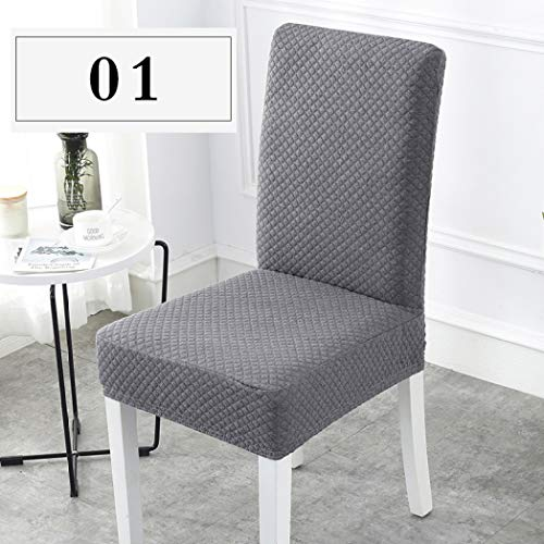 AMURAO Super Thick Cotton Spandex Dining Chair Cover Stretch Universal Chair Covers Machine Washable High Back Chair