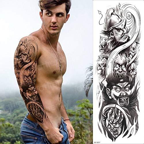 Handaxian 3pcs Manga del Tatuaje de los Hombres Brazo Grande ...