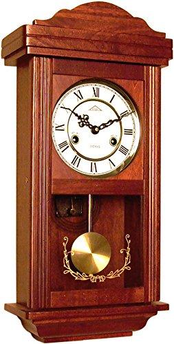 72061 Orologio a pendolo in legno da parete con movimento meccanico carica 31 giorni