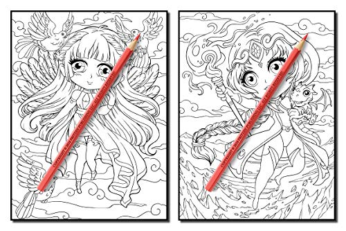 Chibi Girls: An Adult Coloring Book with Adorable Anime Characters, Fun Manga Animals, and Delightful Fantasy Scenes for Relaxation (Chibi Girls Coloring Books)